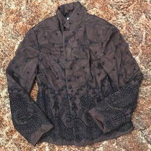 Adrianna Papell Petite Embroidered Blazer